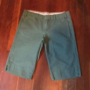 Green Long Shorts from G1 Spring Goods 100% Cotton